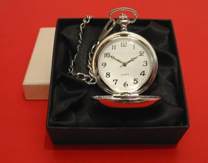 Grand Piano Pewter Pocket Watch with Albert Chain Piano Teacher
