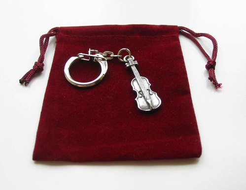Violin Pewter Keyring Collectible Instrument Charm Music Gift