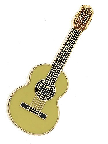 Classical Guitar Lapel Mini Pin Badge Collectible Music Gifts
