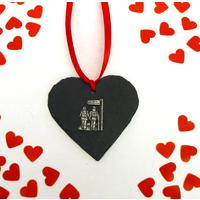 Public Footpath Design Slate Heart Christmas Valentine Gift