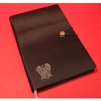 Guardian Angel A5 Black Journal Well Wishing Gift