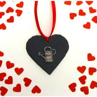 Watering Can Design Slate Heart Christmas Valentine Gift