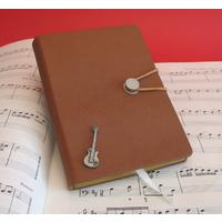 Electric Guitar A6 Tan Journal Notebook Music Gift