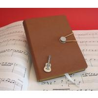 Acoustic Guitar A6 Tan Journal Notebook Music Stationery Gift