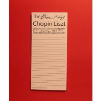 Chopin Liszt Shopping Memo Pad Notebook Home Music Gifts