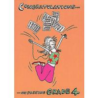 Music Gift Card Congratulations on Passing Grade 4 (Girl)