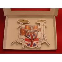 Drum Kit Wooden Wall Clock Musician Music Gift