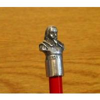 Collectible Literary Stationery Shakespeare Pewter Pencil Top