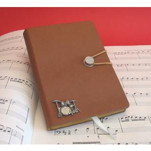 Drum Kit A6 Tan Journal Notebook Music Stationery Gift