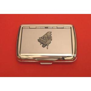 Piano Chrome Tobacco Tin Music Gift