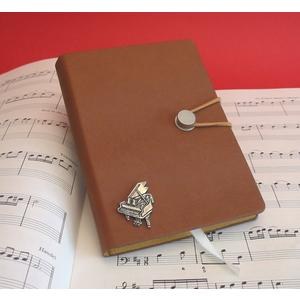 Piano A6 Tan Journal Notebook Music Stationery Gift