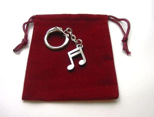 Musical Notes Pewter Keyring Collectable Charm Music Gift