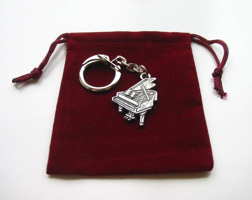 Grand Piano Pewter Keyring Student Teacher Music Gift
