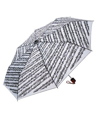 Sheet Music Design Mini Travel Umbrella Music Gift