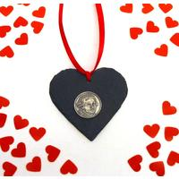 Mozart Design Slate Heart Xmas Wedding Valentine Gift