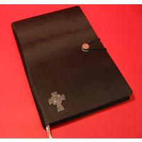 Celtic Cross A5 Black Journal Celtic Themed Gift