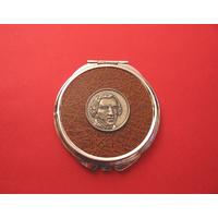 Frederic Chopin Brown Round Compact Mirror Music Gift
