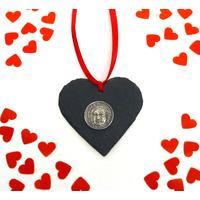 Bach Design Slate Heart Christmas Wedding Valentine Gift
