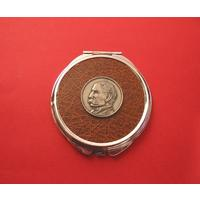 Edward Elgar Brown Round Compact Mirror Music Gift