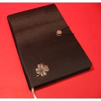 Four Leaf Clover A5 Black Journal Well Wishing Gift