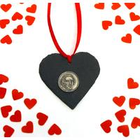 Chopin Design Slate Heart Xmas Wedding Valentine Gift