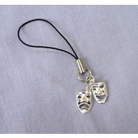 Comedy Tragedy Masks Silver Mobile Phone Charm Theatre Gifts