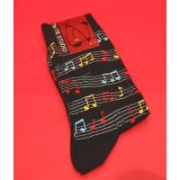 Colorful Manuscript Design Men's Cotton Socks Teacher Music Gift