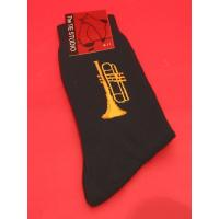 Trumpet Design Cotton Socks Men's Musician Brass Band Music Gift