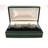 Saxophone Pewter Cufflinks Musician Jazz Band Music Gift Boxed