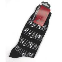 Sheet Music Manuscript Design Mens Cotton Socks Musicians Gift