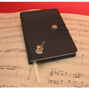 Guitar & Cowboy Hat Black A6 Notebook Music Gift