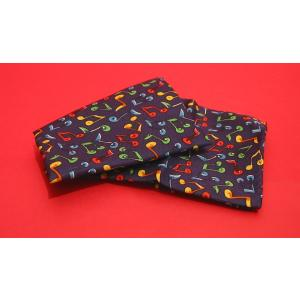 Music Notes Handkerchief Multi-Coloured Gents Music Gift