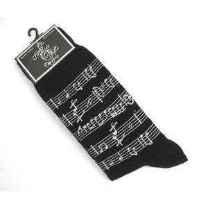 Manuscript Design Gents Socks Musician Mens Music Gift (black)